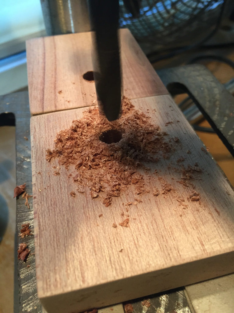 Step 3: Drill a hole on each side