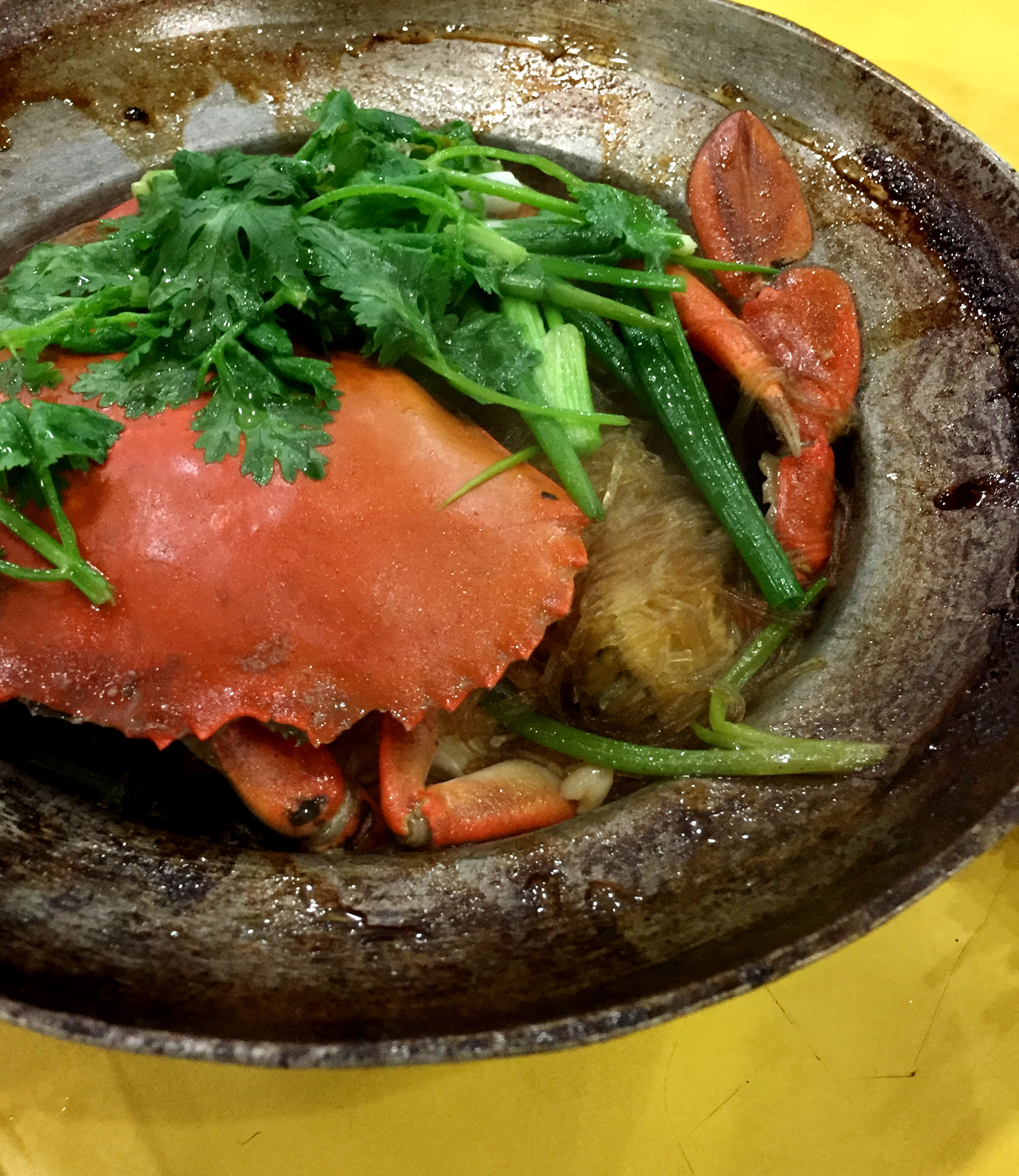 Aroma Thai Crab Clay Pot Glass Noodles (Tang Hoon)